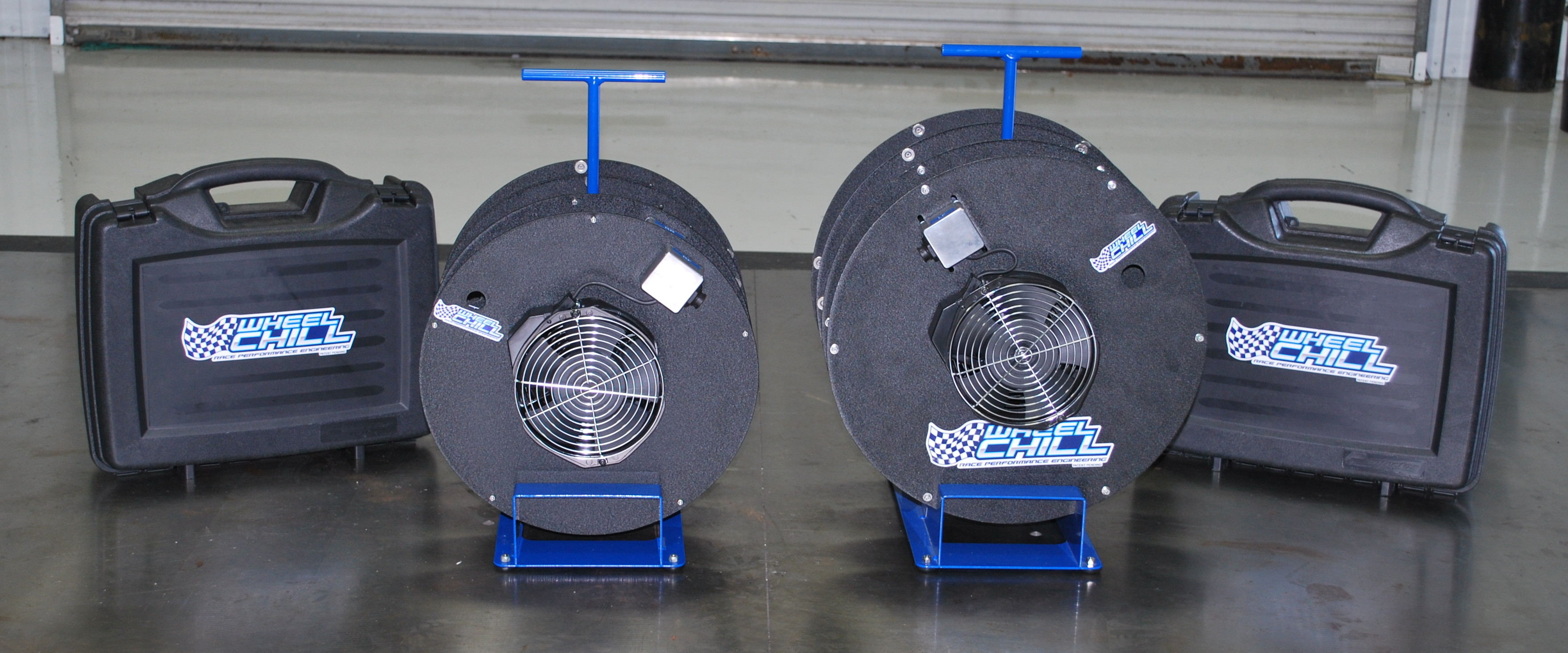 A product lineup of Wheel Chill products