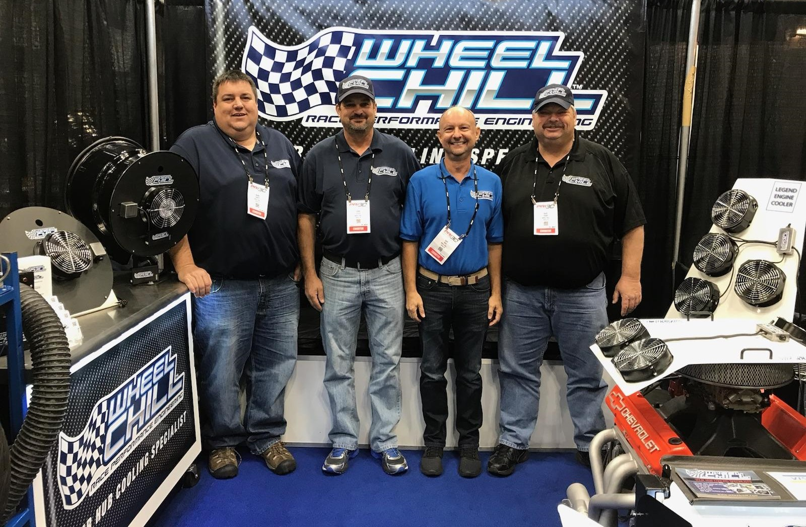 The Wheel Chill team at their PRI 2018 display